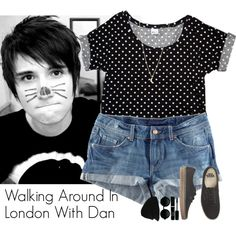 """Walking Around In London With Dan"" by cutiepiemel on Polyvore"