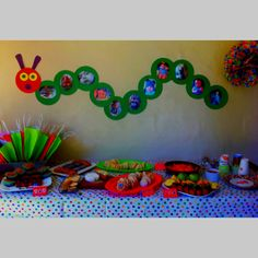 The Very Hungry Caterpillar, party spread :) #veryhungrycaterpillar #PenguinKids
