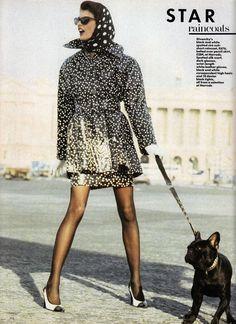 "lelaid: ""Linda Evangelista by Peter Lindbergh for British Vogue, March 1987 """