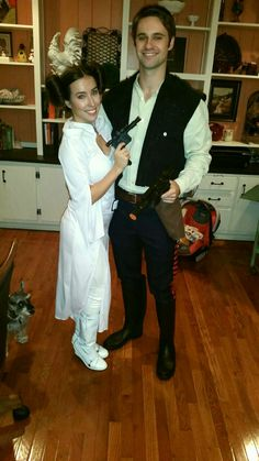 Perfect Princess Leia and Han Solo Halloween costume. Couples costume star wars inspired cos play for couples.