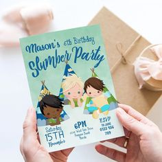 Slumber Party Birthday Invitation Princess Sleep Over Pyjama Party Digital Download for him boys invite Instant Download Editable Template Slumber Party Birthday, Slumber Parties, Sleepover, Unicorn Party Invites, 21st Birthday Invitations, Printable Invitations, Invitation Card Design, Invitation Cards, Pajama Party