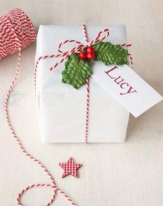 Random lot of 10 Miniature Christmas Presents//Gifts Various size shape,color