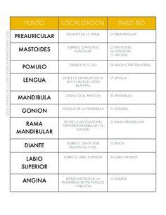 PUNTO LOCALIZACION PARES BIO PREAURICULAR DELANTE DE LA OREJA 24-PREAURICULAR MASTOIDES SOBRE EL CARTILAGO AURICULAR 25-MA...