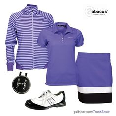 OOTD: Abacus Blue Iris Color Block Outfit #Golf4Her