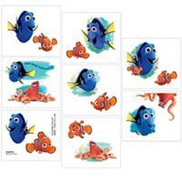 16 Finding Dory Party Temporary Tattoos