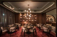 Swift & Sons Dining Room Restaurant Lounge, Restaurant Furniture, Bar Lounge, Restaurant Interior Design, Cafe Interior, Restaurant Ideas, Restaurant Lighting, Restaurant Interiors, Chinese Restaurant