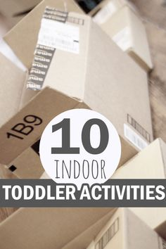 Indoor activities are a must when you're stuck inside! These are 10 easy activities to do with toddlers for those days you're stuck indoors.