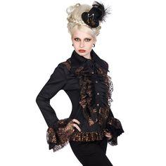b9bcaddaece Aderlass Steampunk Riffle Blouse Gothic Kleidung