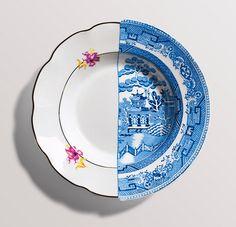 Коллекцию посуды Hybrid из фарфора ручной росписи