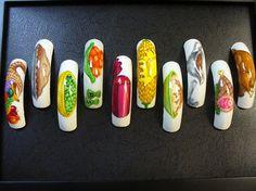 Thanksgiving Dinner by jtnailz from Nail Art Gallery Food Nail Art, Thanksgiving Nail Art, Nail Art Galleries, Nails Magazine, Nailart, Art Ideas, Art Gallery, Nail Designs, Design Ideas