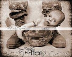 Military baby photo idea