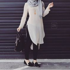 How to wear long tunic with hijab http://www.justtrendygirls.com/how-to-wear-long-tunic-with-hijab/