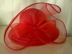 Hollywood Red Giovanni Hat for Hollywood Park, Hollywood Weddings and Holidays! $19.00