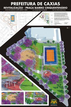 Prancha Final • Urbanismo • Projeto de Revitalização - Praça do Bairro Cinquentenário • Caxias do Sul - RS