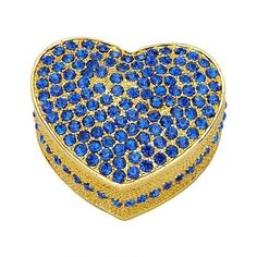 Blue Heart Shaped Jewerly Box