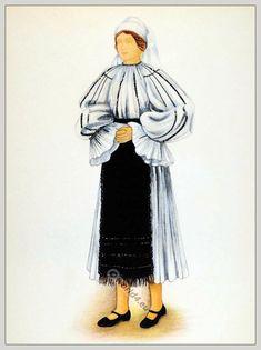 Young peasant woman from Săliște Sibiu, Transylvania Folk Costume, Costumes, Peasant Blouse, Fashion History, Aurora Sleeping Beauty, Sibiu Romania, Woman, Affair, Beautiful