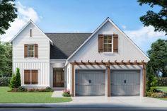 White Brick Houses, White Exterior Houses, Garage Exterior, House Paint Exterior, Exterior Remodel, Exterior Siding Options, White Siding House, Painted Brick Houses, Painted White Brick House