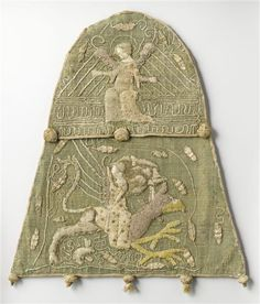 Embroidered Aumonière, 14th century. From the Benedictine Abbey of St. Mihiel.