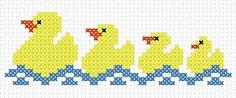 Free cross stitch chart: ducklings first swim...