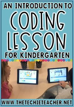 An Introduction to Coding Lesson for Kindergarten. This is a reflection of the steps we took to introduce kinders to coding. What is coding? How can we code? WHY do we code? Computer Lessons, Technology Lessons, Teaching Technology, Computer Lab, Computer Science, What Is Computer Coding, Teaching Computers, Technology Integration, Teaching Biology