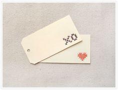 DIY: cross stitch tags