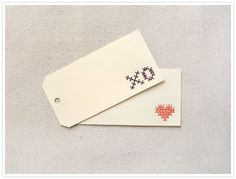 DIY Cross Stitch Tags