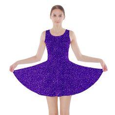 Festive Purple Glitter Skater Dress