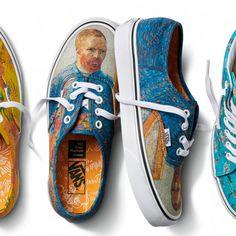 The Van Gogh Museum and Vans collaborate on an artfully wearable collection. Vans and the Van Gogh Museum collaborated to present an artfully designed… Estilo Vans, Sneakers Vans, Vans X, Women's Shoes, Sock Shoes, Painted Vans, Painted Shoes, Vincent Van Gogh, Collection Marvel