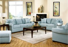picture of Cindy Crawford Home  Bellingham Hydra  2 Pc Living Room  from Living Room Sets Furniture