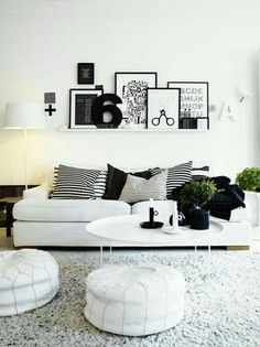 Interior Design. Living Black&White  -Nórdico-