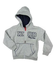 This Gray Fleece Zip-Up Hoodie - Boys by IZOD is perfect! #zulilyfinds