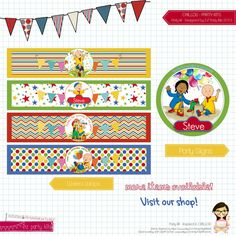 Caillou Birthday Party - Happy Birthday CAILLOU Printable - Party Decoration Caillou Party Kit by EZ Party Kits