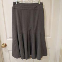 BLACK FRIDAY SALE GOING ON NOW!  & WITH MAKE AN OFFER OPTION!!  Darjoni Grey Skirt Godet Style Size 8 AWESOME SKIRT!!  #Darjoni #Godet