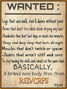 I wish Chronic Fatigue, Chronic Illness, Chronic Pain, Fibromyalgia Pain, Complex Regional Pain Syndrome, Trigeminal Neuralgia, Hypermobility, Rheumatoid Arthritis Symptoms, Crps