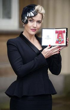 Kate Winslet was made a Commander of the British Empire on November 11, 2012 in London at an investiture ceremony at Buckingham Palace with the Queen.