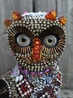 Houdini the beaded owl by Betsy Youngquist by betsyyoungquist