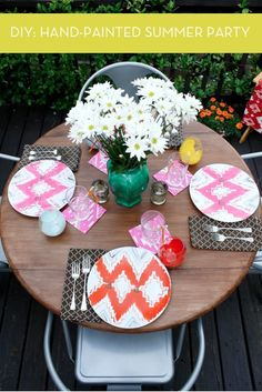 DIY Hand Painted Summer Party