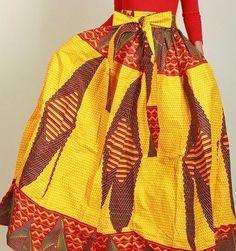 Ankara Boho Bohemian African Print Cotton One Size Maxi Skirt Elastic Waist #FTInc #Maxi