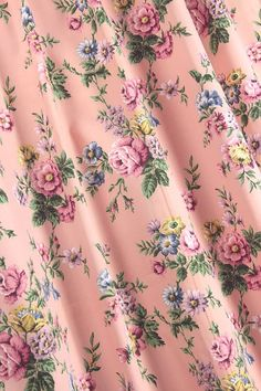 Pink floral fabric...