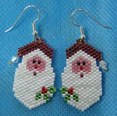 Santa face earrings. Way cute.