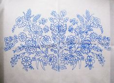 Kalocsa Hungary Hungarian Kalocsai Floral w Paprika Stamped Embroidery Cloth New | eBay