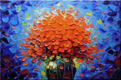 Original Abstract Painting, Modern Textured Painting, Palette Knife, Home Decor, Painting Oil on Canvas by Chen 048 Oil Painting Flowers, Texture Painting, Flower Paintings, Oil On Canvas, Canvas Art, Mini Canvas, Canvas Ideas, Wall Decor Pictures, Picture Wall