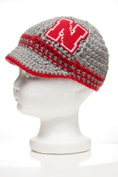 READY TO SHIP Nebraska Huskers Inspired Crocheted by TheHookUp, $25.00