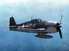 Hellcat from USS Lexington 1944 Ww2 Fighter Planes, Air Fighter, Ww2 Planes, Fighter Aircraft, Fighter Jets, Grumman Aircraft, Ww2 Aircraft, Aircraft Carrier, Military Aircraft