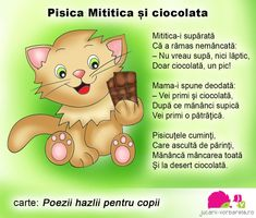 pisica-mititica-text-corectat Emotions Activities, Activities To Do, Projects For Kids, Crafts For Kids, 4 Kids, Children, Kids Poems, Early Education, Kids Reading