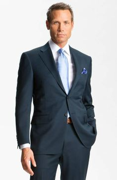 Canali | Wool Suit #canali #navy #suit