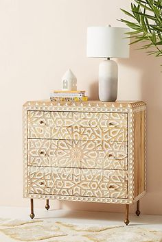 ShopStyle Look by Stacibeth featuring Anthropologie Handcarved Albaron Three-Drawer Dresser Retro Furniture, Ikea Furniture, Colorful Furniture, Shabby Chic Furniture, Furniture Plans, Rustic Furniture, Cool Furniture, Living Room Furniture, Furniture Design
