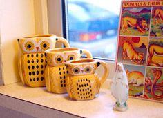 vintage owl pitchers