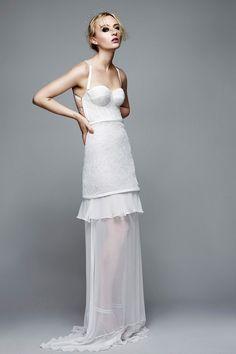 Asco casarse en este Topshop Long Bustier Dress de Richard Nicoll.