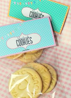 cookies packaging free printable